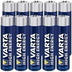 10 Stück Varta Micro AAA High Energy Alkaline Batterien - 1