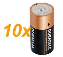 10 x Duracell 1,5 V Baby C/ LR14/ AM2/ 4014/Alkaline Batterie - 1