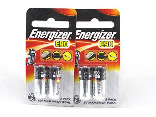 4 Energizer E90 LR1 N Alkaline Alkali Batterien Ablauf 12/2020 (2 x 2-er Pack) - 1