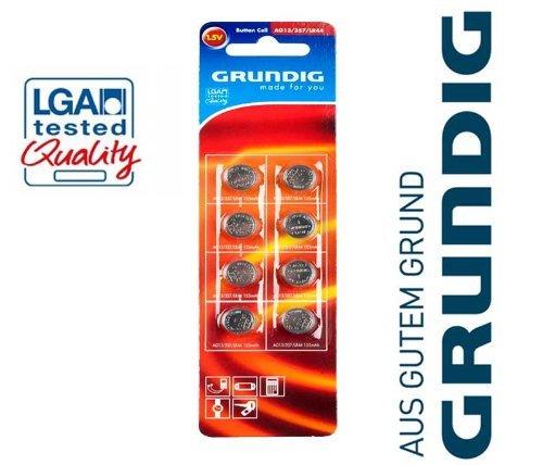 8x Knopfzellen Grundig Batterien AG13 357 LR 44 Uhren Batterie Knopfzelle 1,5 V - 1