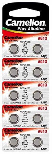 Alkaline Knopfzelle CAMELION AG13/LR44/LR1154/357 - 1