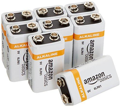 AmazonBasics Everyday Alkalibatterien, 9V, 8 Stück - 1