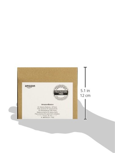 AmazonBasics Everyday Alkalibatterien, 9V, 8 Stück - 5