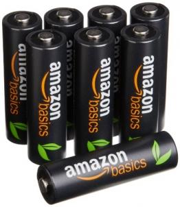 AmazonBasics Vorgeladene Ni-MH-Akkus, AA, 500Zyklen (typisch 2500mAh, minimal 2400mAh), 8Stück - 1