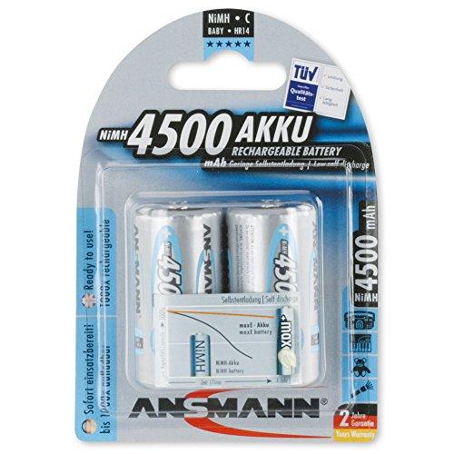 ANSMANN maxE Baby C Akku 4500mAh (4er Pack) vorgeladene ready2use NiMH Power Akkubatterie Babyzelle mit geringer Selbstentladung - 2