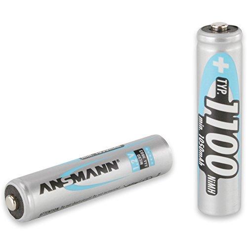 ANSMANN Micro AAA Akku Typ 1100mAh NiMH hochkapazitiv Profi Digital Kamera-Akkubatterie (4er Pack) - 2