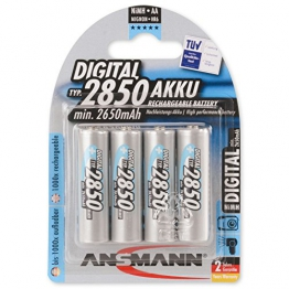 ANSMANN Mignon AA Akku Typ 2850mAh NiMH hochkapazitiv Profi Digital Kamera-Akkubatterie (4er Pack) - 1
