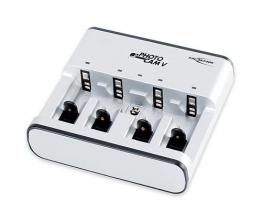 ANSMANN PhotoCam V Akku-Ladegerät für Micro AAA/Mignon AA/Baby C/Mono D/9V E-Block mit LED-Anzeige (individueller Ladevorgang pro Schacht, autom. Abschaltung, Erhaltungsladung) - 1