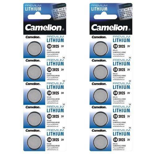 Camelion 10-er Pack Lithium Knopfzelle 3 V DL2025/5003LC CR2025 - 1