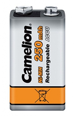 Camelion 17025122 Akku (NiMH, 9 Volt Block, 250 mAh, 1er) - 1