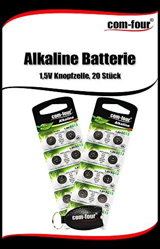 Camelion by COM-FOUR® Alkaline Batterie 1,5V Knopfzelle LR44 (AG13 - 20 Stück) - 2