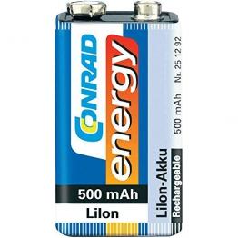 CONRAD ENERGY LIION-AKKU 9V BLOCK 500MAH - 1