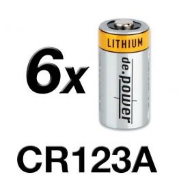CR123A de.power Lithium Photobatterien Batterien 6(3x2) Stück - 1
