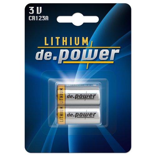 CR123A de.power Lithium Photobatterien Batterien 6(3x2) Stück - 2
