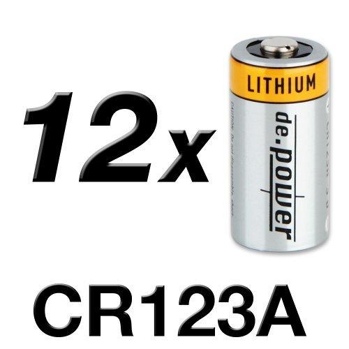 de.power CR123A Lithium Batterien, 12 Stück - 1