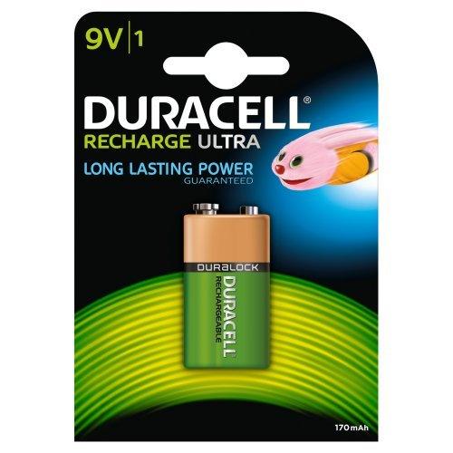 Duracell Akku 9V (HR22) 170 mAh 1er (wiederaufladbare Batterie) - 1