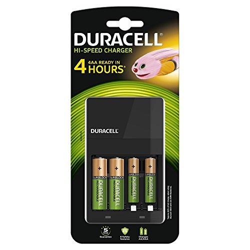 Duracell Akkuladegerät, inkl. 2 AA- und 2 AAA-Akkus, Ladezeit 4h - 1