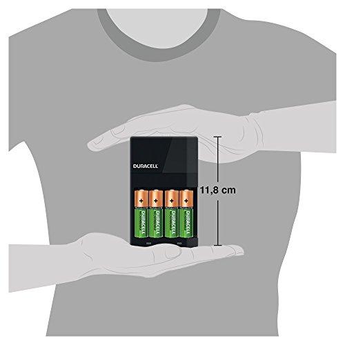 Duracell Akkuladegerät, inkl. 2 AA- und 2 AAA-Akkus, Ladezeit 4h - 5