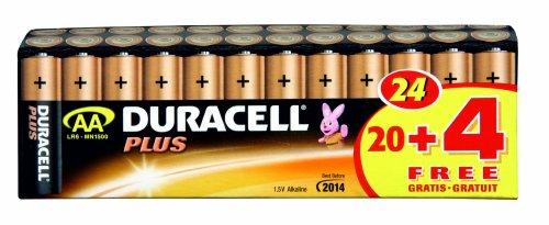 Duracell Batterie Plus Mignon AA 20er + 4 gratis Sonderpack - 1