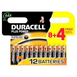 Duracell Batterie Plus Power Micro AAA 8er + 4 gratis Sonderpack ( 12 Batterien ) - 1