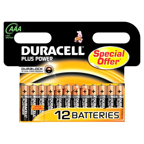 Duracell DUR018631 Plus Power AAA Batterien (12er Pack) - 1