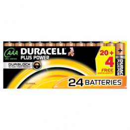Duracell DUR019058 Plus Power AAA Batterien (24 Stück) - 1