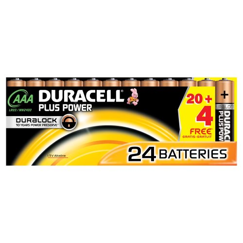 Duracell DUR019058 Plus Power AAA Batterien (24 Stück) - 1