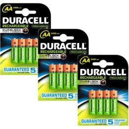 Duracell Duralock Akku PreCharged (AA, HR6, 1,2 Volt, 2400mAH) 12 Stück - 1