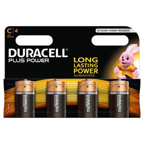 Duracell Plus Power Alkaline Batterien C (MN1400/LR14) 4er Pack - 1