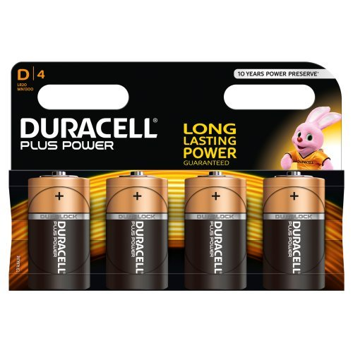 Duracell Plus Power Alkaline Batterien D (MN1300/LR20) 4er Pack - 1