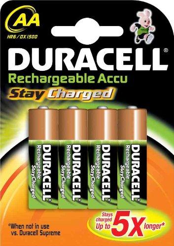 Duracell StayCharged Akku AA (HR06) 2400 mAh B4 Precharged (vorgeladene wiederaufladbare Batterie) - 1