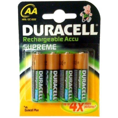 Duracell Supreme Akku (AA, HR6, 1,2 Volt, 2.400mAH) 4 Stück - 1