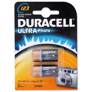 Duracell Ultra Photo Lithium DL123A / CR123A, EL123A - 1