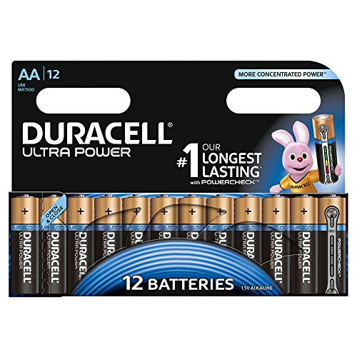 Duracell Ultra Power Alkaline Batterien mit Powercheck AA (MX1500/LR6) 12 Stück Pack - 1