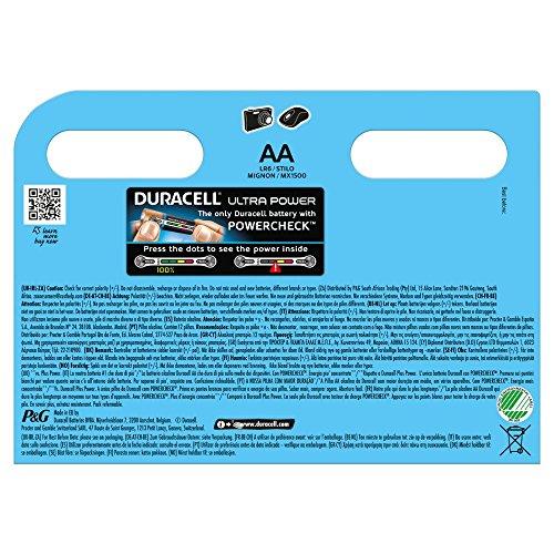 Duracell Ultra Power Alkaline Batterien mit Powercheck AA (MX1500/LR6) 12 Stück Pack - 2