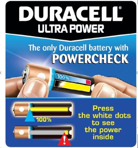 Duracell Ultra Power Alkaline Batterien mit Powercheck AA (MX1500/LR6) 12 Stück Pack - 6