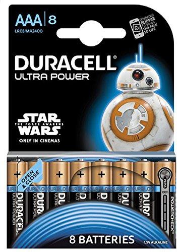 Duracell Ultra Power Alkaline Batterien mit Powercheck AAA (MX2400/LR03) 8er Pack - 1