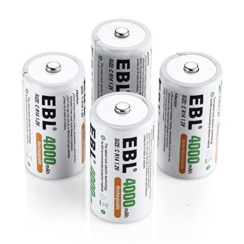 EBL® 4 Stück Baby C 4000mAh mit hoher Kapazität wiederaufladbare Akkus - 1