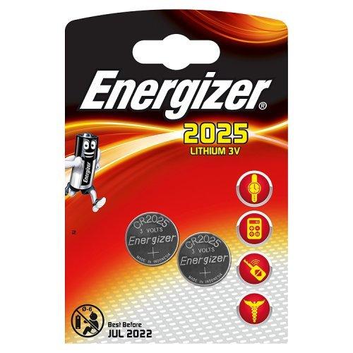 Energizer CR2025/2 Lithium Knopfzelle (2-er Blister) - 1