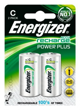 Energizer Original Akku Power Plus Baby C  (2500mAh, 1,2 Volt, 2-er Pack) - 1