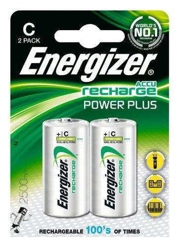 Energizer Original Akku Power Plus Baby C  (2500mAh, 1,2 Volt, 2-er Pack) - 1