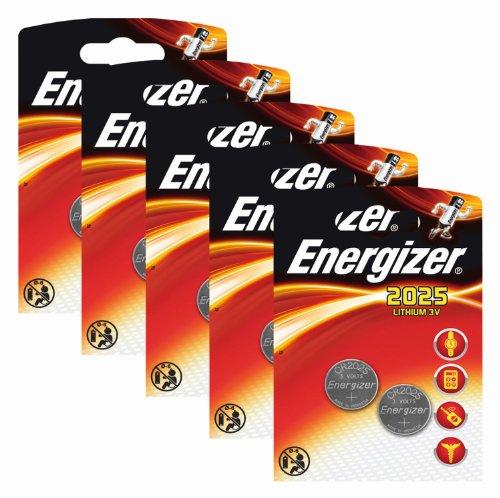 Energizer Original Batterie Lithium CR 2025 (3 Volt, 5x 2-er Pack) - 1