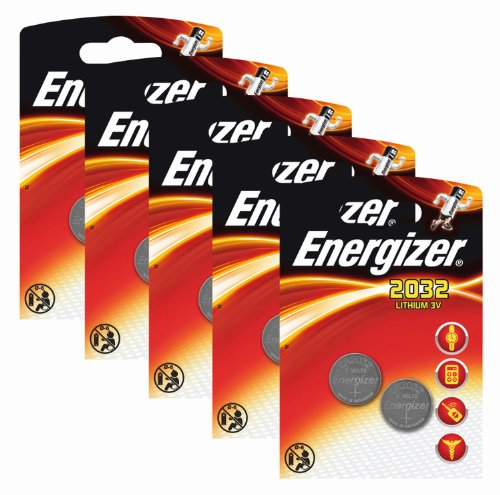 Energizer Original Batterie Lithium CR 2032 (3 Volt, 5x 2-er Pack) - 1