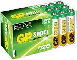 GP Micro AAA Super Alkaline Batterien im 24-er Vorteils-Pack (LR03 Multipack 24 Stück) - 1