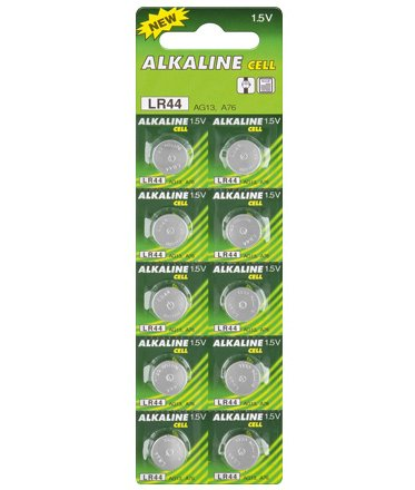 Maxima Trade Set 5 x Alkali Knopfzelle (10 x) Knopfzelle (Mangan L44/AG13/L1154/357/A 76) 5 Stück - 2