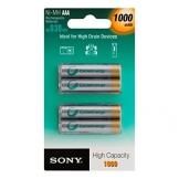 Sony Nickel-Metallhydrid Akkus 4er Pack Micro Ni-MH 1,2 V 1000 mAh - 1