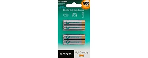 Sony Nickel-Metallhydrid Akkus 4er Pack Micro Ni-MH 1,2 V 1000 mAh - 2