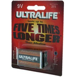 Ultralife Lithium Batterie 9 Volt, E-Block, U9VL, U9VL-J - 1