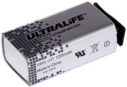 Ultralife Lithium Batterie (9 Volt, E-Block, U9VL, U9VL-J-P, 1200mAh, 10er Sparset) - 1