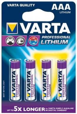 Varta Batterie Lithium Mikro AAA (6103) - 4er Blister - 1